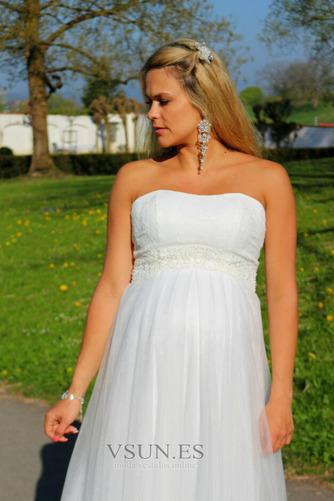 Vestido de novia Sin tirantes Embarazadas Imperio Imperio Cintura Sin mangas - Página 7