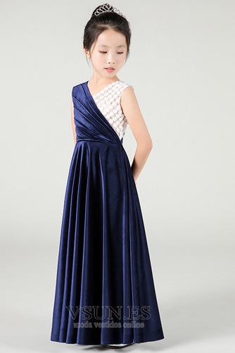 Vestido niña ceremonia Sin mangas Otoño Natural Hasta el Tobillo Elegante - Página 3