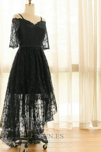 Vestido de fiesta Escote con Hombros caídos Asimètrico Cordón Elegante - Página 6