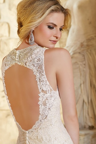 Vestido de novia Encaje Natural Corte Sirena Espalda medio descubierto - Página 4