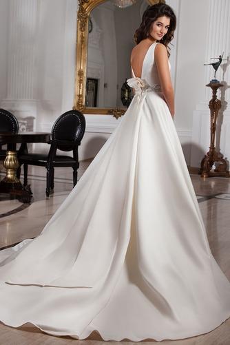 Vestido de novia Sala Cristal Cinturón de cuentas Espalda medio descubierto - Página 2