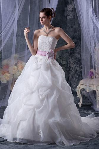 Vestido de novia Sin tirantes Corte-A Iglesia largo Sin mangas Encaje - Página 2