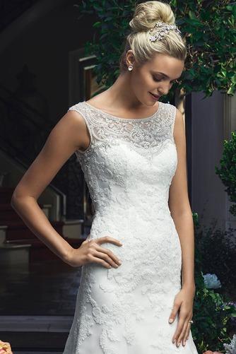 Vestido de novia primavera Encaje Cremallera Natural Abalorio largo - Página 3