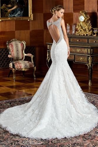 Vestido de novia Corte Sirena Cremallera Cristal Cola Capilla Colores - Página 2