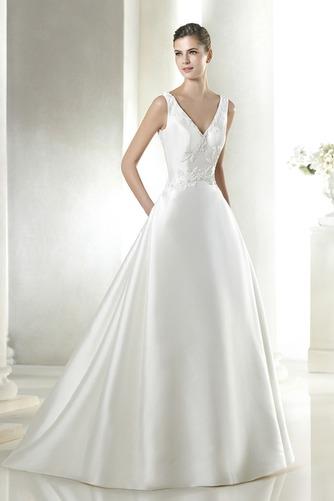 Vestido de novia Con velo Corte-A Cola Capilla Espalda medio descubierto - Página 1