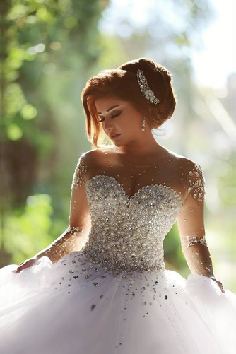 Vestido de novia Estrellado Corpiño Acentuado con Perla Sala Manga larga - Página 6