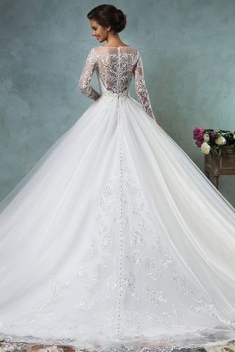 Vestido de novia Iglesia Encaje Natural Cremallera Otoño Manga larga - Página 2