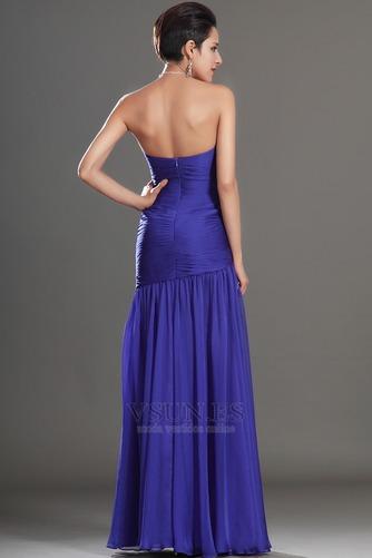 Vestido de fiesta Glamouroso azul medianoche Sin tirantes Hasta el suelo - Página 7