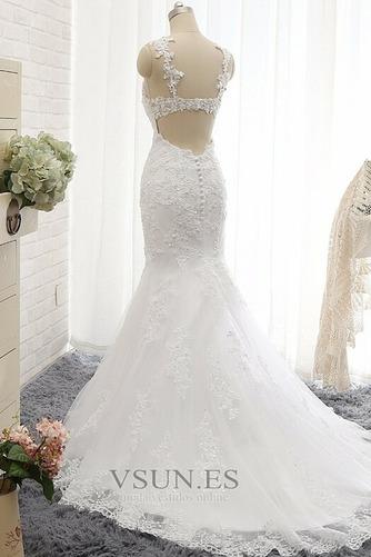 Vestido de novia Romántico Abalorio Espalda Descubierta Otoño Natural - Página 3