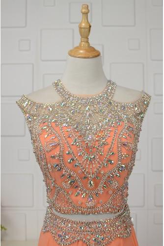 Vestido de noche Estrellado Corte-A Corpiño Acentuado con Perla Gasa - Página 4