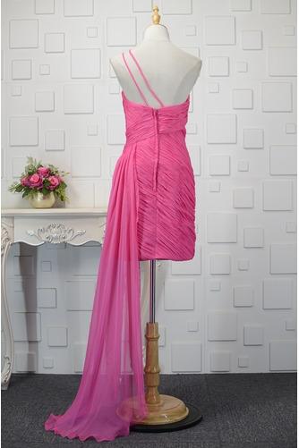 Vestido de cóctel Blusa plisada Asimètrico Elegante Un sólo hombro Sin mangas - Página 2