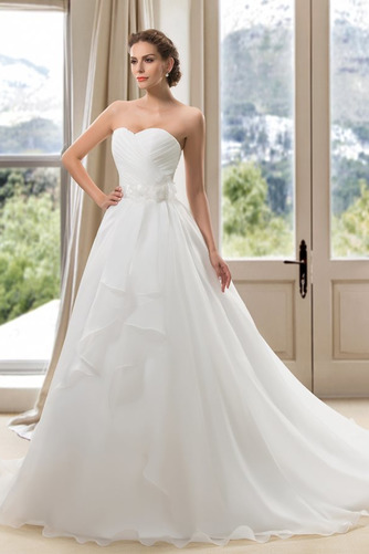 Vestido de novia Verano Blusa plisada Abalorio Espalda Descubierta Sala - Página 3
