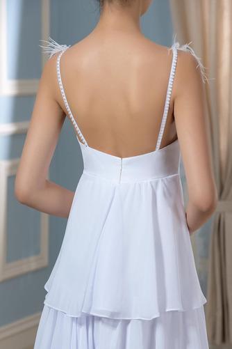 Vestido de novia Embarazadas Sin mangas Cola Barriba Escote en V Playa - Página 6