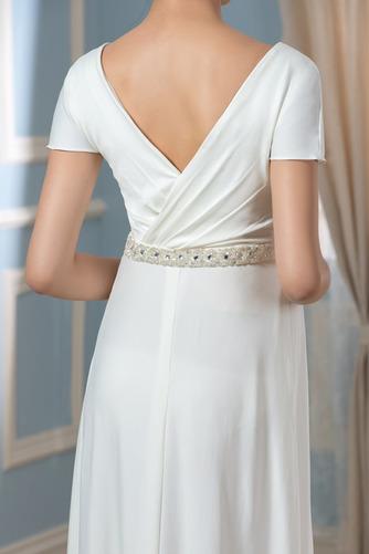 Vestido de novia Embarazadas Cola Barriba Imperio Cintura Espalda Descubierta - Página 5