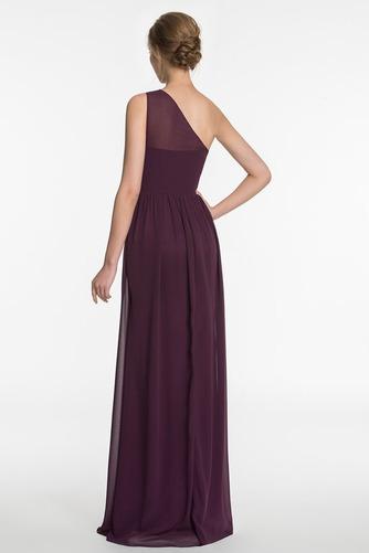 Vestido de dama de honor Espalda medio descubierto Formal Corte-A Drapeado largo - Página 2
