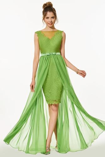 Vestido de fiesta Encaje Verano Elegante Capa de encaje Natural Sin mangas - Página 1