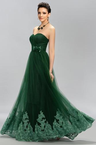 Vestido de fiesta Elegante Cola Barriba Corte-A Encaje Natural Bordado - Página 3