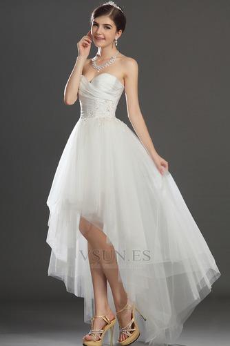 Vestido de novia Escote Corazón Apertura Frontal Asimétrico Dobladillo - Página 3