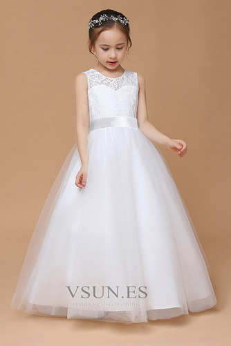 Vestido niña ceremonia Corte-A Falta Joya Formal Arco Acentuado tul - Página 3