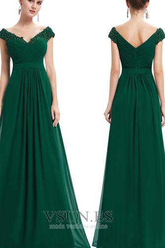 Vestido de noche Tallas grandes Escote en V Capa de encaje Corte-A Formal - Página 2