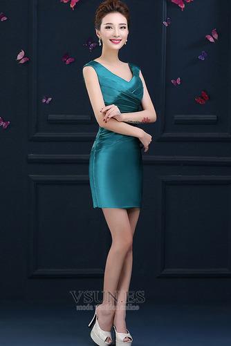 Vestido de cóctel primavera Falta Blusa plisada Glamouroso Plisado Cremallera - Página 3