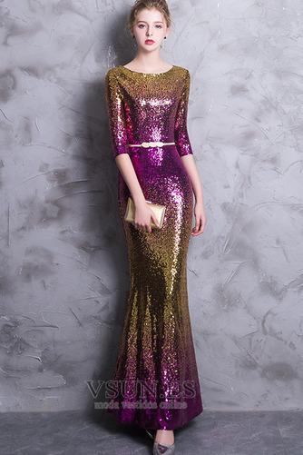 Vestido de noche Corte Sirena Hasta el Tobillo Escote redondo Estrellado - Página 5