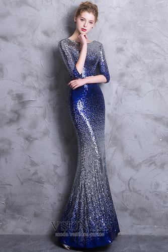 Vestido de noche Corte Sirena Hasta el Tobillo Escote redondo Estrellado - Página 1