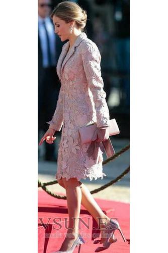 Vestido de madrina Formal 2 piezas Capa de encaje Encaje Camiseta Encaje - Página 5