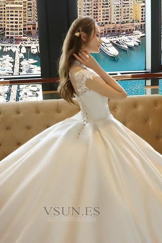 Vestido de novia Capa de encaje Encaje Apliques Escote con cuello Alto - Página 5
