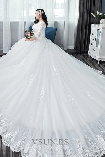 Vestido de novia Capa de encaje Apliques La mitad de manga Cordón Formal - Página 3
