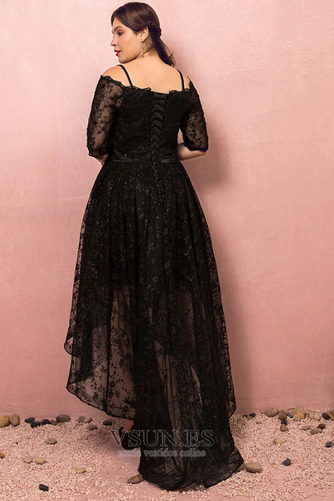 Vestido de fiesta Escote con Hombros caídos Asimètrico Cordón Elegante - Página 2
