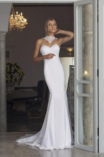 Vestido de novia Playa Cola Capilla Corte Sirena sexy Satén Elástico - Página 1