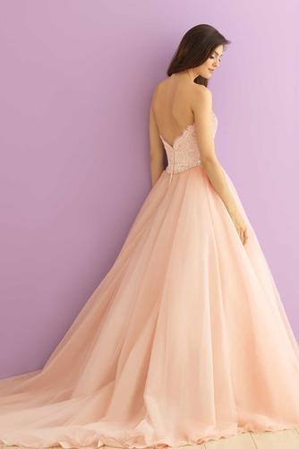 Vestido de novia Natural Cremallera Corte-A Escote Corazón primavera - Página 2