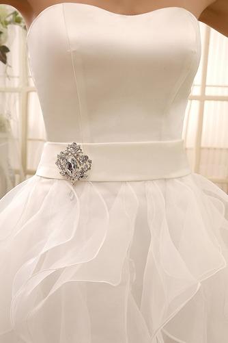 Vestido de novia Sin tirantes Fajas Hasta la Rodilla Satén Fuera de casa - Página 3