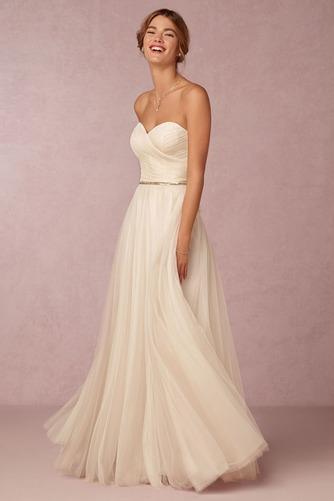 Vestido de novia Playa Verano Espalda Descubierta largo Escote Corazón - Página 1