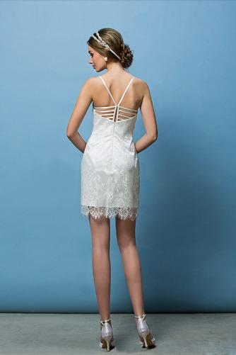 Vestido de novia Corte Recto Espalda Descubierta Glamouroso Escote de Tirantes Espaguetis - Página 8