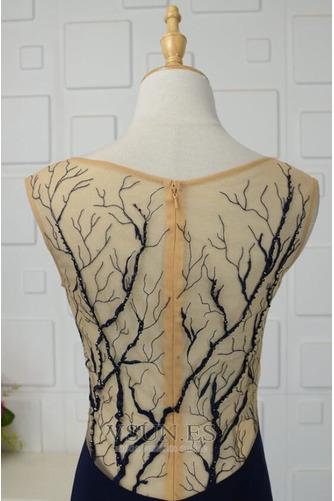 Vestido de noche vendimia Corte-A Escote en V Frontal Dividida Natural - Página 5