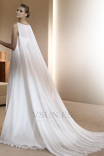 Vestido de novia Gasa Imperio Cintura Abalorio Joya Hasta el suelo Cremallera - Página 2