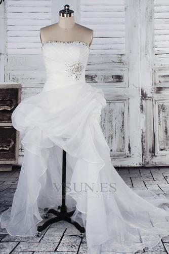 Vestido de novia Fuera de casa Exclusivo Plisado Asimétrico Dobladillo - Página 1