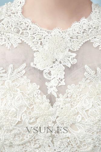 Vestido de novia Romántico Cordón Corte-A Fuera de casa Manga larga - Página 4