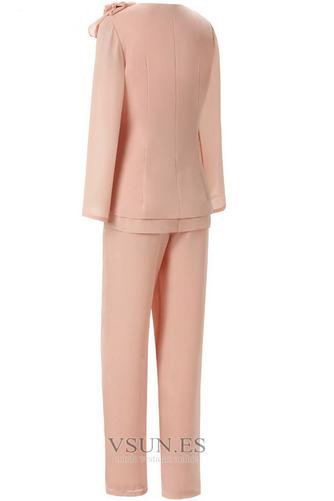 Vestido de madre traje de pantalones Joya Hasta el Tobillo Alto cubierto Elegante Abalorio - Página 3
