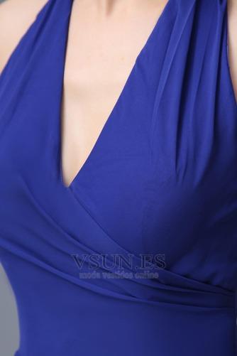 Vestido de dama de honor Hasta el suelo Elegante Espalda medio descubierto Invierno - Página 6