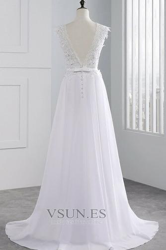 Vestido de novia Encaje Hasta el suelo Joya Fuera de casa Verano Natural - Página 2
