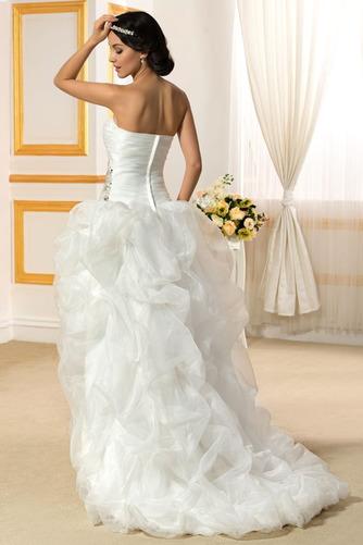 Vestido de novia Sin tirantes Triángulo Invertido Asimètrico Espalda Descubierta - Página 3