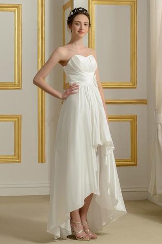 Vestido de novia Sin mangas Asimètrico Sin tirantes Volantes Adorno - Página 2