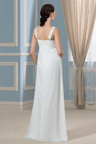 Vestido de novia Alto cubierto Hasta el suelo Moderno Imperio Cintura - Página 3