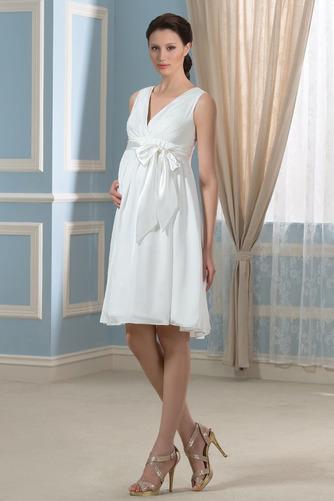 Vestido de novia Arco Acentuado Verano Gasa Drapeado Blusa plisada Hasta la Rodilla - Página 4