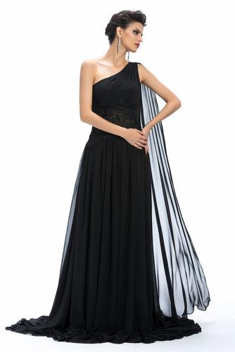 Vestido de noche Gasa Natural Elegante Reloj de Arena Corte-A Dobladillos - Página 4