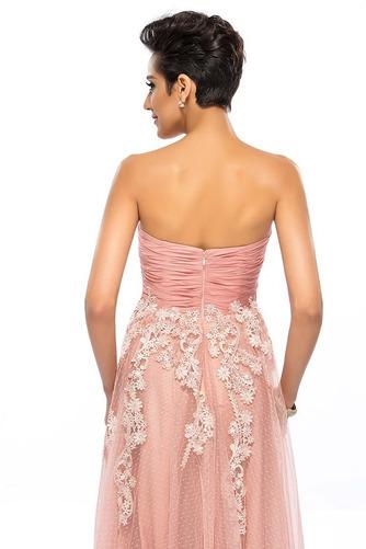 Vestido de fiesta Apliques Cremallera Natural Corte-A Hasta el suelo - Página 6