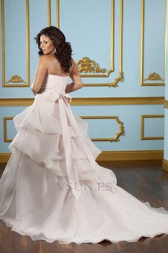Vestido de novia Sin tirantes Hasta el suelo Blusa plisada Corte princesa - Página 2